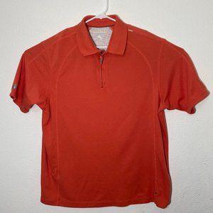 Tommy Bahama Mens XL Coral Orange SS Polo Shirt